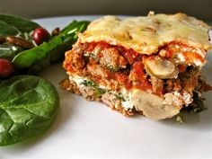 I love a great piece of lasagna, however it doesn't love me back. So I set out to make a delicious grain free lasagna that taste amazing and was good for me too! This lasagna is so good you won't even miss the traditional noodles that usually accompanies lasagna. As most of you know, I try my best to cook in season. I have a delicious summer lasagna recipe made out of zucchini and eggplant that I posted...