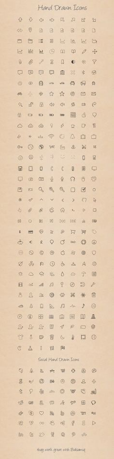 Hand Drawn Icons: