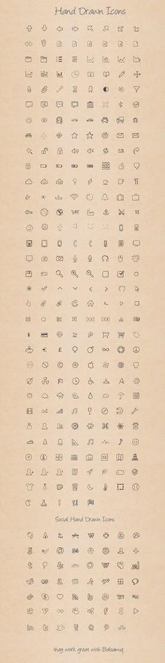 Hand Drawn Icons: