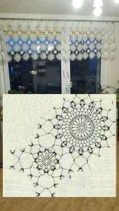 This Pin was discovered by Bas Diy Crochet And Knitting, Crochet Art, Crochet Home, Thread Crochet, Crochet Crafts, Crochet Doilies, Hand Crochet, Crochet Squares, Crochet Snowflake Pattern