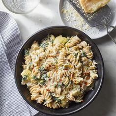 If you've ever wanted to make a meal out of warm spinach and artichoke dip, this creamy pasta is for you. And here's what's almost as good as the flavor of this comforting dish: the fact that this healthy dinner takes just 20 minutes to prepare. Pasta Recipes, Diet Recipes, Vegetarian Recipes, Cooking Recipes, Healthy Recipes, Vegetarian Dinners, Vegetarian Sandwiches, Weeknight Recipes, Vegetarian Barbecue