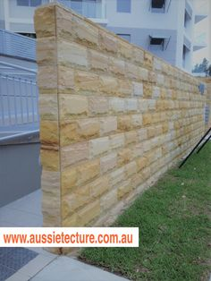 Aussietecture natural stone supplier has a unique range natural stone products for walling, flooring & landscaping. Sandstone Cladding, Natural Stone Cladding, Sandstone Paving, Natural Stone Wall, Natural Stones, Landscape Design, Garden Design, House Design, Small Balcony Garden