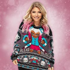 Wrestling Divas, Women's Wrestling, Aj Styles, Ugly Holiday Sweater, Ugly Sweater, Wwe Raw Women, Raw Women's Champion, Wwe Womens, Female Wrestlers