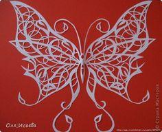 Открытка Вырезание Бабочки Бумага фото 1