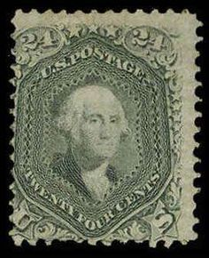 Philasearch.com - USA 1861-1866 issue, Scott 78a. 24c Grayish Lilac, Somewhat dist. OG, good color, some slightly shortish perfs at B., perfs in at L., Very Good example of this scarce mint stamp, 2006 PSE Catalog value: 2900.00  Lot condition *  Dealer Aldrich Auction  Auction Starting Price: 270.00 US$