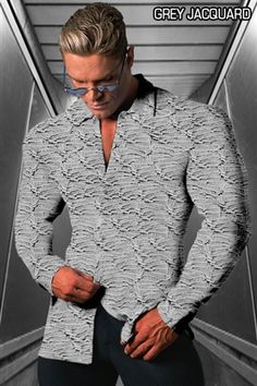 ip and Tailored Dress Shirt!  Hard times? No problem! Invest in a classic with serious styling power. The pay off? Your wardrobe will continue to prosper long after the season fades. We feature our smart looking signature style in a classic long sleeve dress shirt made from ultra luxurious ITY stretch fabric. This sexy strong dress shirt is custom made for the bodybuilder. it has a semi snug fit through the shoulders with a streamline tapered waist that can be worn loose or tucked in. An inspiring HB signature combination of sophistication and class! Quality never goes out of style.