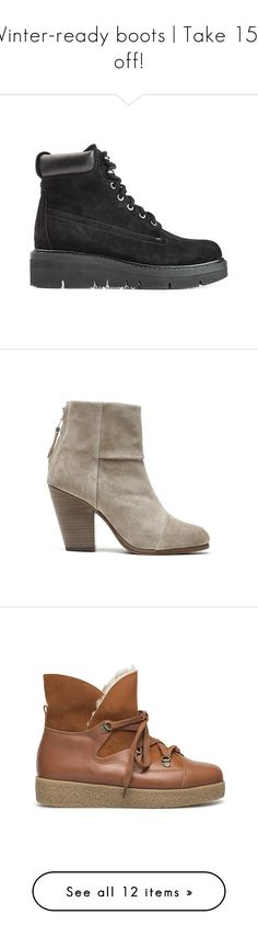 Winter-ready boots | Take 15% off! by blueandcream on Polyvore featuring women's fashion, shoes, boots, accessories, women, grey boots, grey shoes, rag bone boots, laced boots and black laced boots