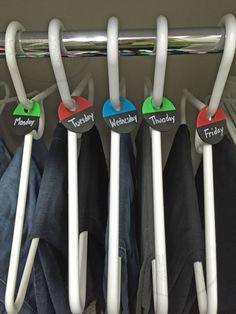 Sabrina's Organizing Week Day Clothing Organizers Tips - #DIY #children #sorters