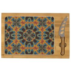 Tapestry pattern cheese platter - fancy gifts cool gift ideas unique special diy customize