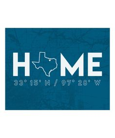 Look what I found on #zulily! Personalized City Indigo Home State Coordinates Print by mo+co designs #zulilyfinds