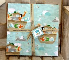 10 inch squares Stackers LITTLE ARK fabric by Riley by quilttaffy, $17.95
