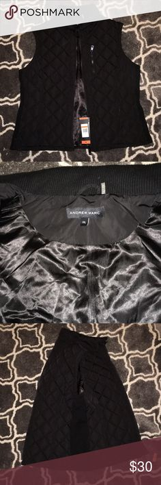 Andrew Marc Puffy Vest Size XXL (never worn) Black, lightweight, warm, nice material Jackets & Coats Vests
