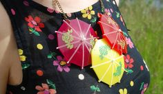 Tatty Devine, cocktail umbrella necklace Cocktail Umbrellas, Tatty Devine, Fancy Hats, Alternative Fashion, Fascinator, Cocktails, Dressing, Blog, Cocktail Parties