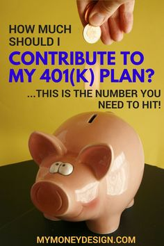 How much should I contribute to my 401(k) plan each year? Is the magic answer 5%? 10%? 15%? While some financial experts may lead you to think so, I believe that saving your money in a 401(k) gives you the unique opportunity to do something you wouldn't normally be able to do … save over $4,000 in taxes! That's why I recommend this one simple answer. Read more at MyMoneyDesign.com