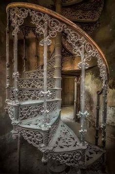 Abandoned Spiral Staircase of the Victorian Era