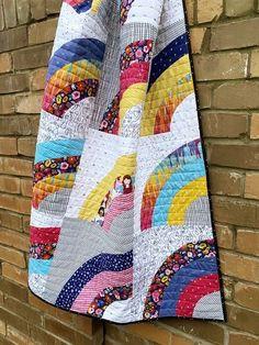 Rainbow Splash Lap Quilt | Fabric: GRL PWR by Amber Kemp-Gerstel for Riley Blake Designs