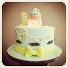 I only like the banner on this cake. Very cute idea