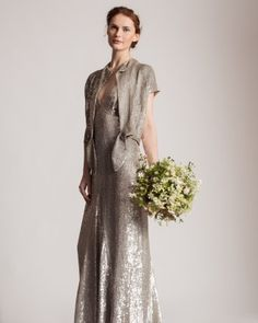 Shimmery and sequin wedding dress with jacket | Click to view more styles