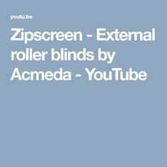 This promotional video provides an overview of Zipscreen external roller blinds. It includes details on the features, benefits and specifications of Zipscree. Roller Blinds, Entertaining, Youtube, Youtubers, Funny, Youtube Movies, Roller Shades