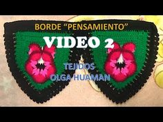 BORDE A CROCHET PARA COLCHA PENSAMIENTO VIDEO 2 - YouTube