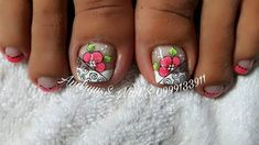 Cute Pedicures, Pedicure Nails, Pedicure Designs, Toe Nail Designs, Nails Design, Toe Nail Art, Toe Nails, French Pedicure, Finger