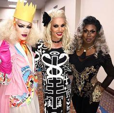 Sasha Velour, Katya Zamolodchikova and Shea Couleé Three of my faves in one photo <3
