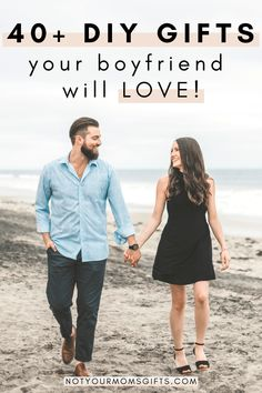 These DIY gifts for boyfriend are great ideas if you're at a loss for what to get him! Forget the boring socks—these are Not Your Mom's Gifts. 40 Diy Gifts, Handmade Birthday Gifts, Diy Birthday, Creative Gifts, Diy Anniversary Gifts For Him, Birthday Gifts For Husband, Diy Gifts For Boyfriend, Gifts For Mom, Best Bridesmaid Gifts