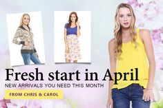 Get a fresh start with Chris & Carol's must haves for Spring! http://www.fashiongo.net/chriscarol #fashiongo #fashion #wholesale