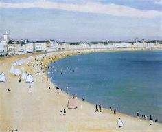 Albert Marquet - La plage des Sables-d'Olonne (1921)