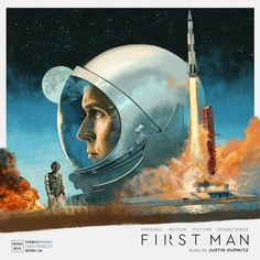 Mondo's First Man vinyl for the space drama's score comes with beautiful artwork from Marc Aspinall and a cool moon-themed design for the record itself. Man Movies, I Movie, Damien Chazelle, Leon Bridges, Gil Scott Heron, Best Movie Posters, Film Posters, Moon Missions, Main Theme