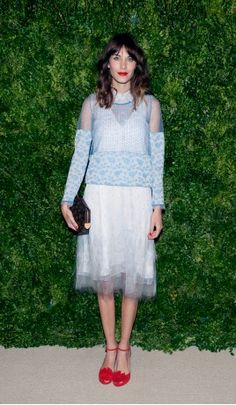 Vogue Daily — Alexa Chung in Thakoon and Tabitha Simmons shoes