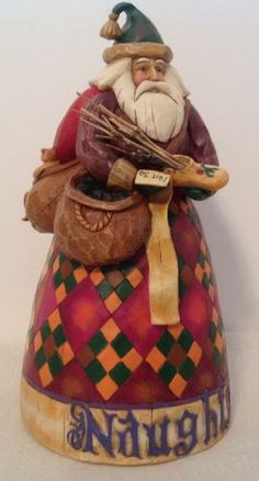 Jim Shore Santa Naughty and Nice Figurine 4002405 | eBay