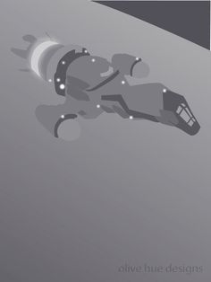 Serenity Firefly 8x10 minimalist poster in grey