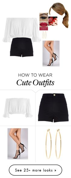 """""""Cute Outfit#4"""" by marti208 on Polyvore featuring River Island, Sans Souci and Brooks Brothers"""