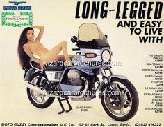 1979 MOTO GUZZI SPADA 1000 MK II SEXY GIRL A3 POSTER AD ADVERT ADVERTISEMENT