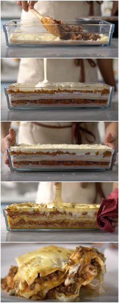 Lasanha Prática Cremosona: a mais pedida da minha casa! (veja a receita passo a passo) #lasanha #lasanhapratica #tastemade