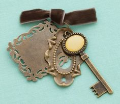 Metal Pendants 3/Pkg-  | SongbirdCrafts - Scrapbooking on ArtFire