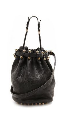 Alexander Wang Diego Bucket Bag with Antiqued Gold Hardware will never not be perfect