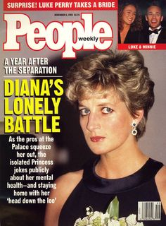 Front cover photo - Princess Diana Diana in a black gown at the Serpentine Gallery. Features - The Outsider Lonely and Embattled, Diana Is Learning Some Hard Lessons About Life Without Charles Princesa Diana, Princesa Real, Lady Diana Spencer, People Magazine, Life Magazine, Princess Of Wales, My Princess, Magazine Cover Page, Charles And Diana