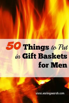50 Things to Put in Gift Baskets for Men - Earning and Saving with Sarah Need gift ideas for men, but having trouble coming up with good options. These 50 Things to Put in Gift Baskets for Men will be a big help. Take a look today. Get Well Gift Baskets, Gift Baskets For Men, Get Well Gifts, Basket Gift, Man Cave Gift Basket, Birthday Present For Husband, Gifts For Husband, Gifts For Boys, Birthday Presents