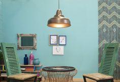 Lámpara de techo, de estilo chapa en color marrón y tecnología de casquillo, compatible con bombillas LED y de bajo consumo. El número de puntos de luz del sistema de...