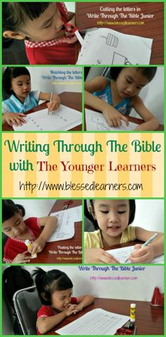 It is not easy to get the younger learners study the bible. Write Through The Bible Junior help early learners to have some activities and study the bible. Teaching Kindergarten Writing, Teaching Social Studies, Bible Stories For Kids, Bible For Kids, Homeschool Curriculum, Catholic Homeschooling, School Lessons, Bible Lessons, Learning Activities