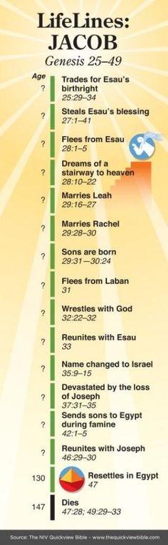Geschiedenis van Jacob. Timeline of Jacob. by susana