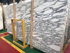 Arabescato marble is available in blocks, slabs, tiles, bookmatch and more. This white marble from Italy is a beautiful natural stone. Arabescato Marble, Marble Suppliers, Marble Block, Dark Granite, Glossier Look, Water Spots, Good Grips, White Marble, Cladding