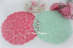 Dreaming of spring FREE doily pattern by Olga Poltava, small doily, easy doily pattern, crochet doily for beginners
