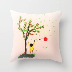 The little girl Throw Pillow Down Pillows, Bed Pillows, Poplin Fabric, Pillow Inserts, Little Girls, Pillow Cases, Sewing, Zipper, Stylish
