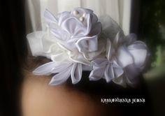Krakowianka jedna...: Różana opaska w bieli...