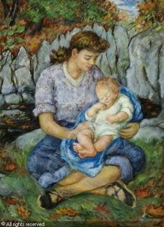 PEIRCE Waldo,Mother and Child,Barridoff Galleries,Portland (ME)