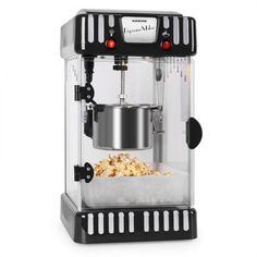 Volcano Popcorn Machine Stainless Steel Kettle Black - Whenever someone plans a movie night, the question of snacks always arises. With the Klarstein Volcano popcorn machine, the answer is quickl Best Popcorn, Homemade Popcorn, Machine Pop Corn, Popcorn Wie Im Kino, Kettle Popcorn, Air Popcorn Maker, Stainless Steel Kettle, Crepe Maker, Estilo Retro