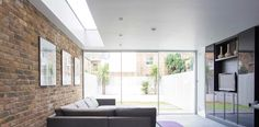 IQ Glass' sliding doors. Sliding Glass Door, Sliding Doors, Glass Doors, Flat Roof Materials, Extension Designs, London Property, Rear Extension, Roof Light, House Extensions